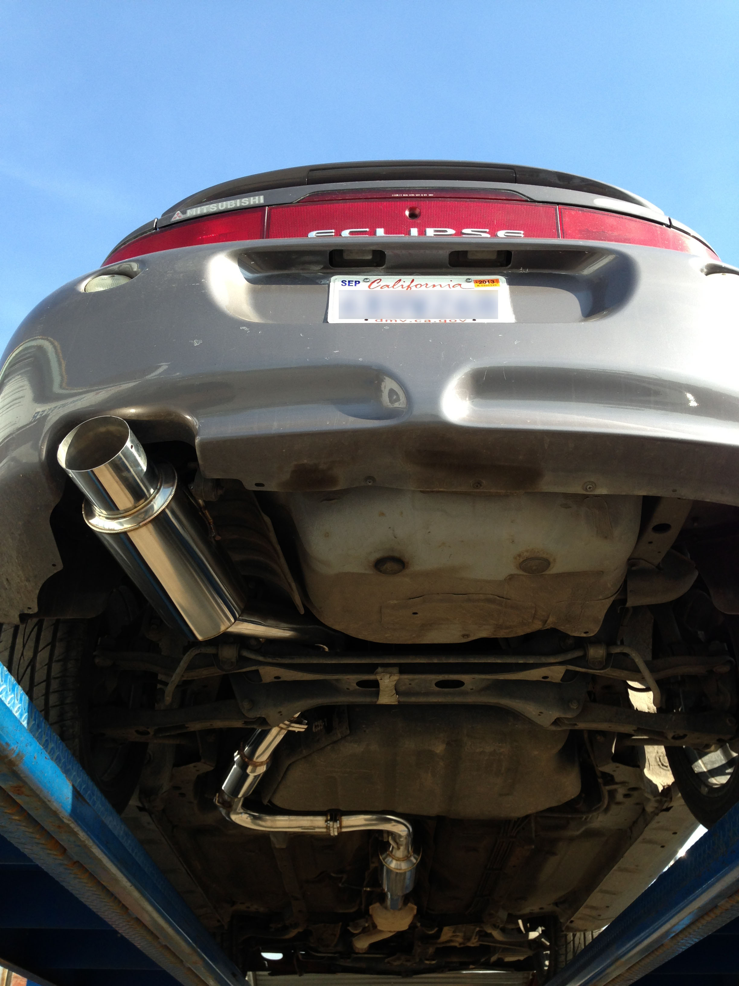 srs mitsubishi eclipse gst 95 99 catback exhaust system srs mitsubishi eclipse gst 95 99 talon catback exhaust system